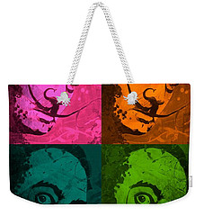 Weekender Tote Bag featuring the painting Daliwood by Michelle Dallocchio