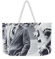 Dallas Cowboys Coach Tom Landry And Quarterback #12 Roger Staubach Weekender Tote Bag