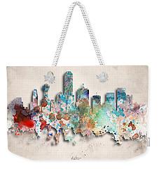 Dallas Painted City Skyline Weekender Tote Bag