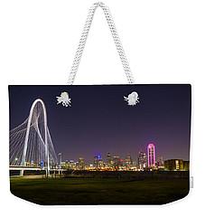 Dallas Skyline And Margaret Hunt Hill Bridge Weekender Tote Bag