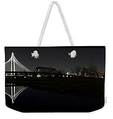 Dallas Skyline Hunt Bridge Color Weekender Tote Bag