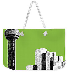 Dallas Skyline Reunion Tower - Olive Weekender Tote Bag