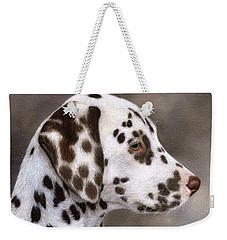Dalmatian Puppy Painting Weekender Tote Bag
