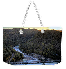 Weekender Tote Bag featuring the photograph Dam Across The River by Jonny D