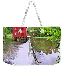 Dam At Starrs Mill Weekender Tote Bag by Gordon Elwell