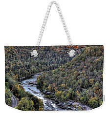 Weekender Tote Bag featuring the photograph Dam In The Forest by Jonny D