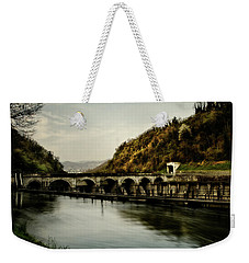 Dam On Adda River Weekender Tote Bag