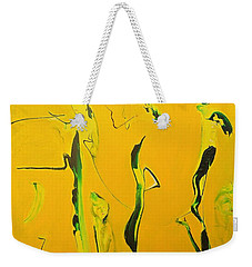 Weekender Tote Bag featuring the painting Dames Du Salon Francais by Kicking Bear  Productions