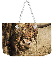 Highland Cow Damn Fleas Weekender Tote Bag