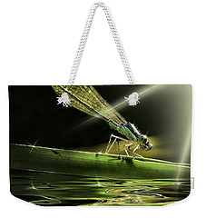 Damsel Dragon Fly  With Sparkling Reflection Weekender Tote Bag by Peter v Quenter