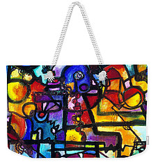 Dance Of The Gauge Bosons In Vacuum Weekender Tote Bag by Regina Valluzzi
