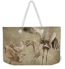 Dance Of The Sandhill Crane Weekender Tote Bag