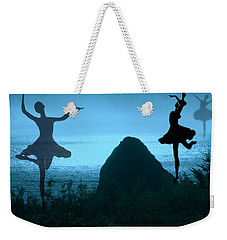 Weekender Tote Bag featuring the photograph Dance Of The Sea by Joyce Dickens