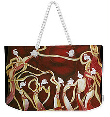Weekender Tote Bag featuring the painting Dance With The Wind by Fei A