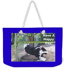 Weekender Tote Bag featuring the photograph Dancing Big Bird Happy Day by Belinda Lee