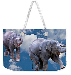 Dancing Elephants Weekender Tote Bag