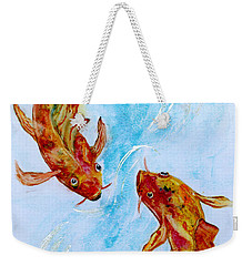 Dancing Koi Sold Weekender Tote Bag by Antonia Citrino