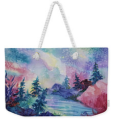Dancing Lights II Weekender Tote Bag by Ellen Levinson