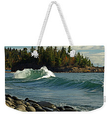Weekender Tote Bag featuring the photograph Dancing Waves by James Peterson