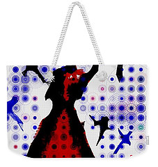 Weekender Tote Bag featuring the photograph Dancing With The Birds by Jessica Shelton