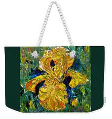 Dancing Yellow Iris Weekender Tote Bag