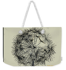 Weekender Tote Bag featuring the photograph Dandelion 6 by Kathy Barney