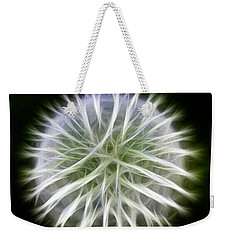Weekender Tote Bag featuring the photograph Dandelion Abstract by Omaste Witkowski
