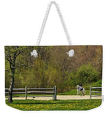 Dandelion Dressage Weekender Tote Bag by Joan Davis