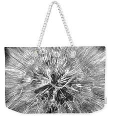 Dandelion Fireworks In Black And White Weekender Tote Bag