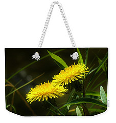 Weekender Tote Bag featuring the photograph Dandelions by Sherman Perry