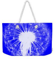 Weekender Tote Bag featuring the digital art Dandylion Blue by Clayton Bruster