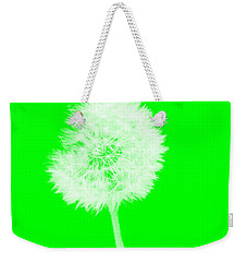Weekender Tote Bag featuring the digital art Dandylion Green by Clayton Bruster