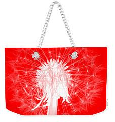 Weekender Tote Bag featuring the digital art Dandylion Red by Clayton Bruster