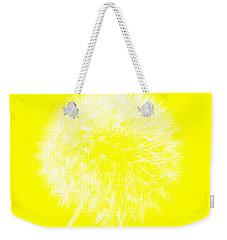 Weekender Tote Bag featuring the digital art Dandylion Yellow by Clayton Bruster