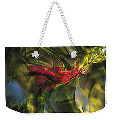 Weekender Tote Bag featuring the digital art Dangerous by Richard Thomas