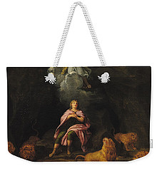 Daniel In The Den Of Lions Oil On Canvas Weekender Tote Bag