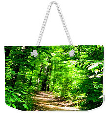 Dappled Sunlit Path In The Forest Weekender Tote Bag