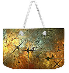 Dark Star Grid Weekender Tote Bag