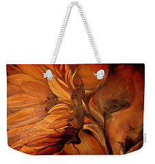 Dark Sunflower Weekender Tote Bag