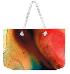 Dark Swan - Abstract Art By Sharon Cummings Weekender Tote Bag by Sharon Cummings