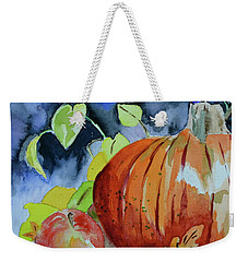 Weekender Tote Bag featuring the painting Darkening by Beverley Harper Tinsley