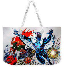 Darkhawk Vs Hobgoblin Focused Weekender Tote Bag