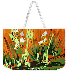 Weekender Tote Bag featuring the painting Darlinettas by Holly Carmichael