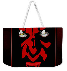 Weekender Tote Bag featuring the painting Darth Maul by Dale Loos Jr