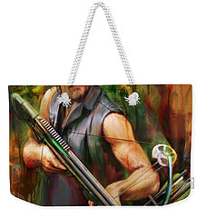 Daryl Dixon Walker Killer Weekender Tote Bag by Rob Corsetti