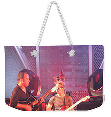 Weekender Tote Bag featuring the photograph Dave And Tim Jam On The Guitar by Aaron Martens