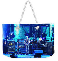 Weekender Tote Bag featuring the photograph Dave And Tim Playing Out Of My Hands by Aaron Martens