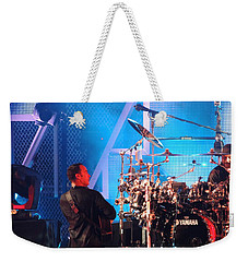 Weekender Tote Bag featuring the photograph Dave Looks At Carter by Aaron Martens