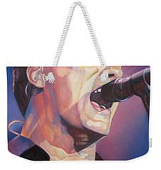 Dave Matthews Colorful Full Band Series Weekender Tote Bag by Joshua Morton