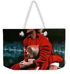 David Beckham And Juan Sebastian Veron Weekender Tote Bag by Paul Meijering